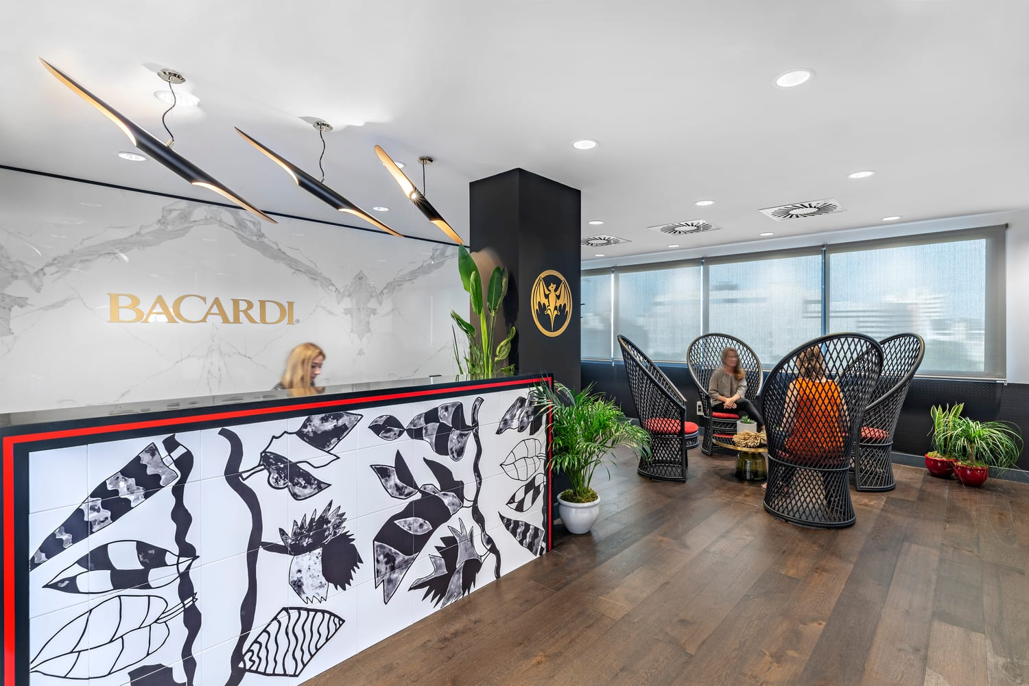 The Bacardi Front Desk and Reception Area