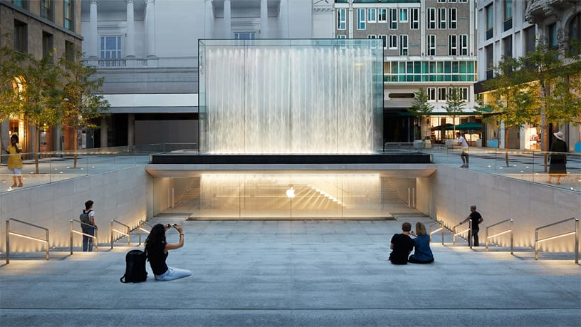 Apple's Piazza Liberty retail location was unveiled in July of 2018.