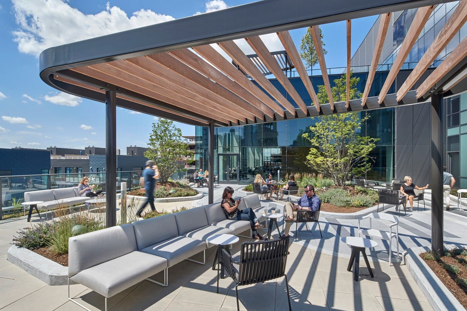 Access to fresh air and outdoor areas are a plus for Fitwel certification.