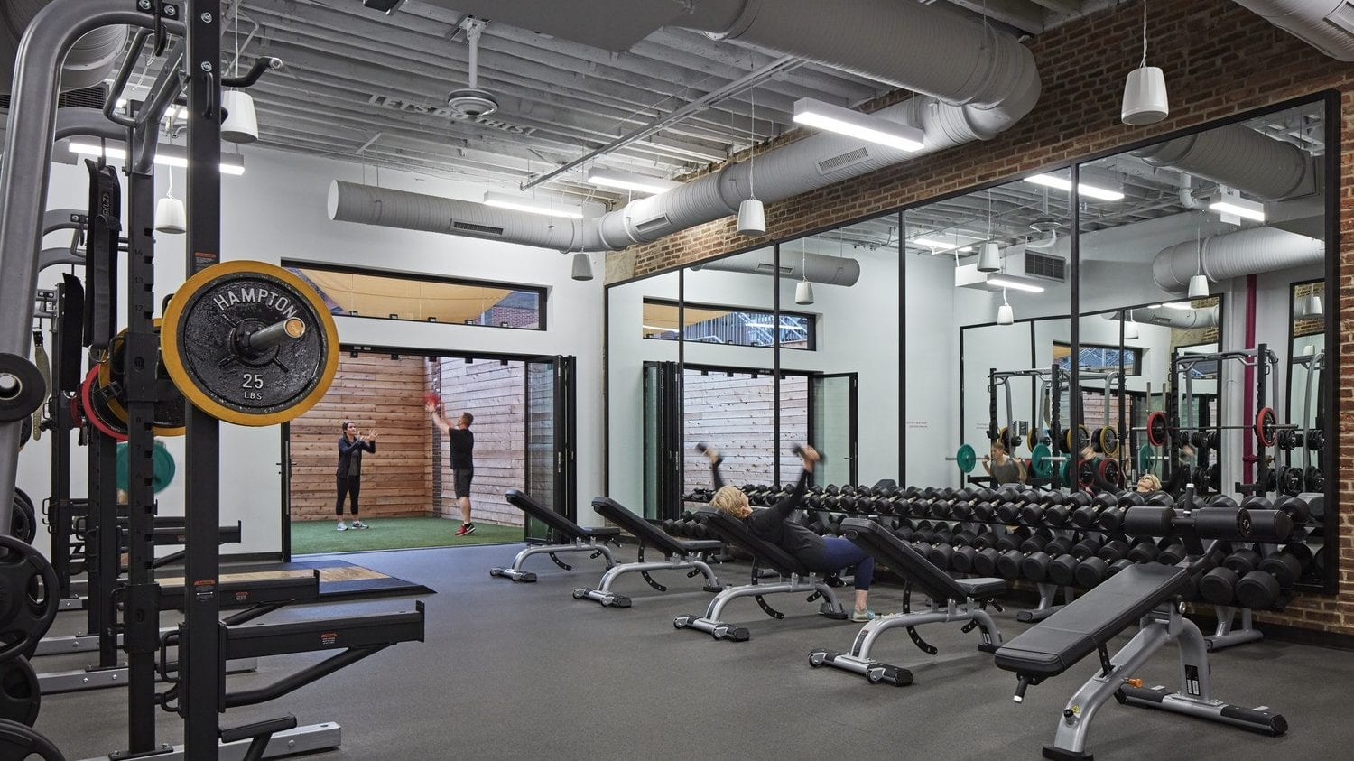 The gym area at Wel at Humana, Louisville, KY