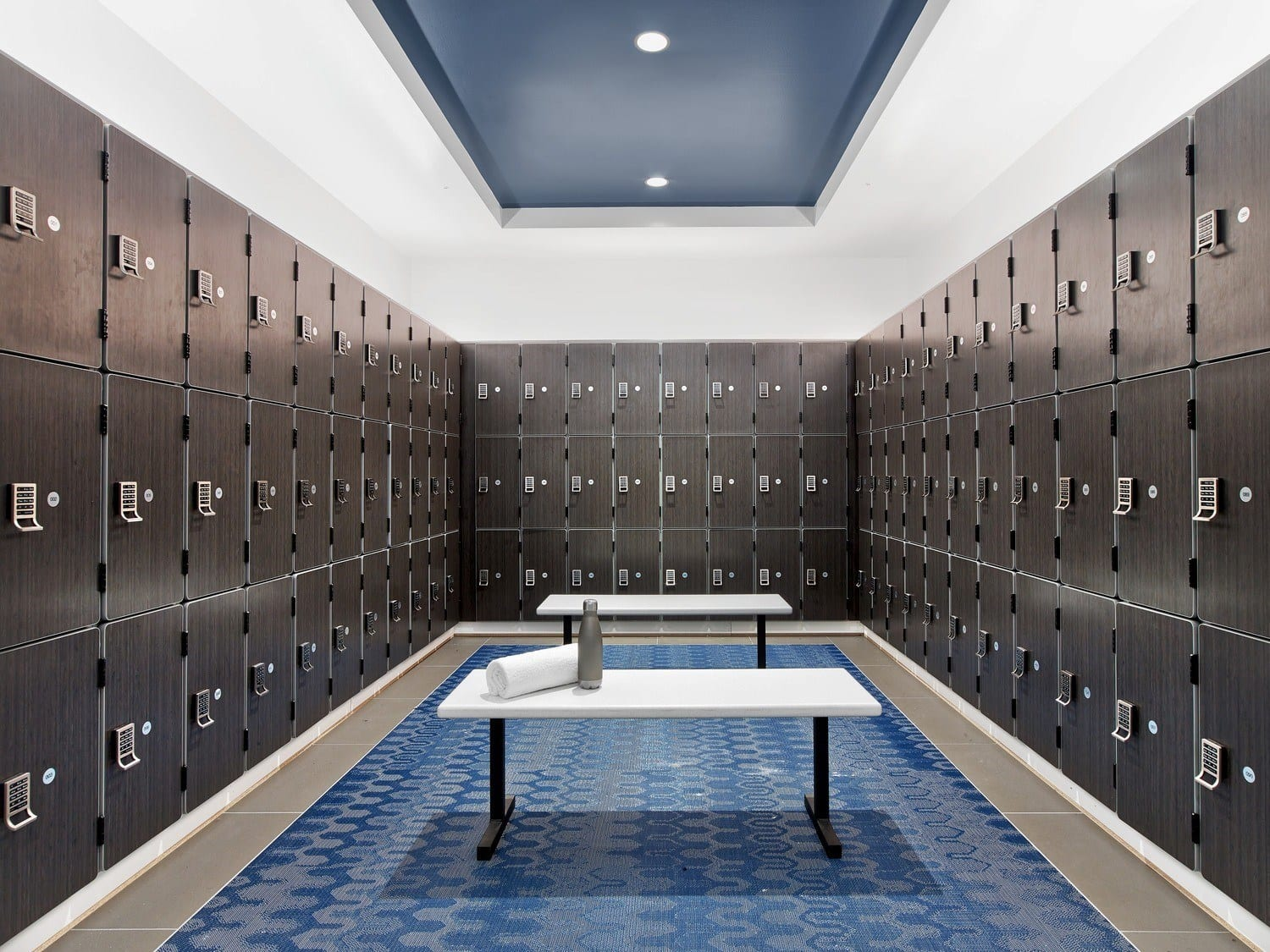 A locker room is an appreciated convenience.