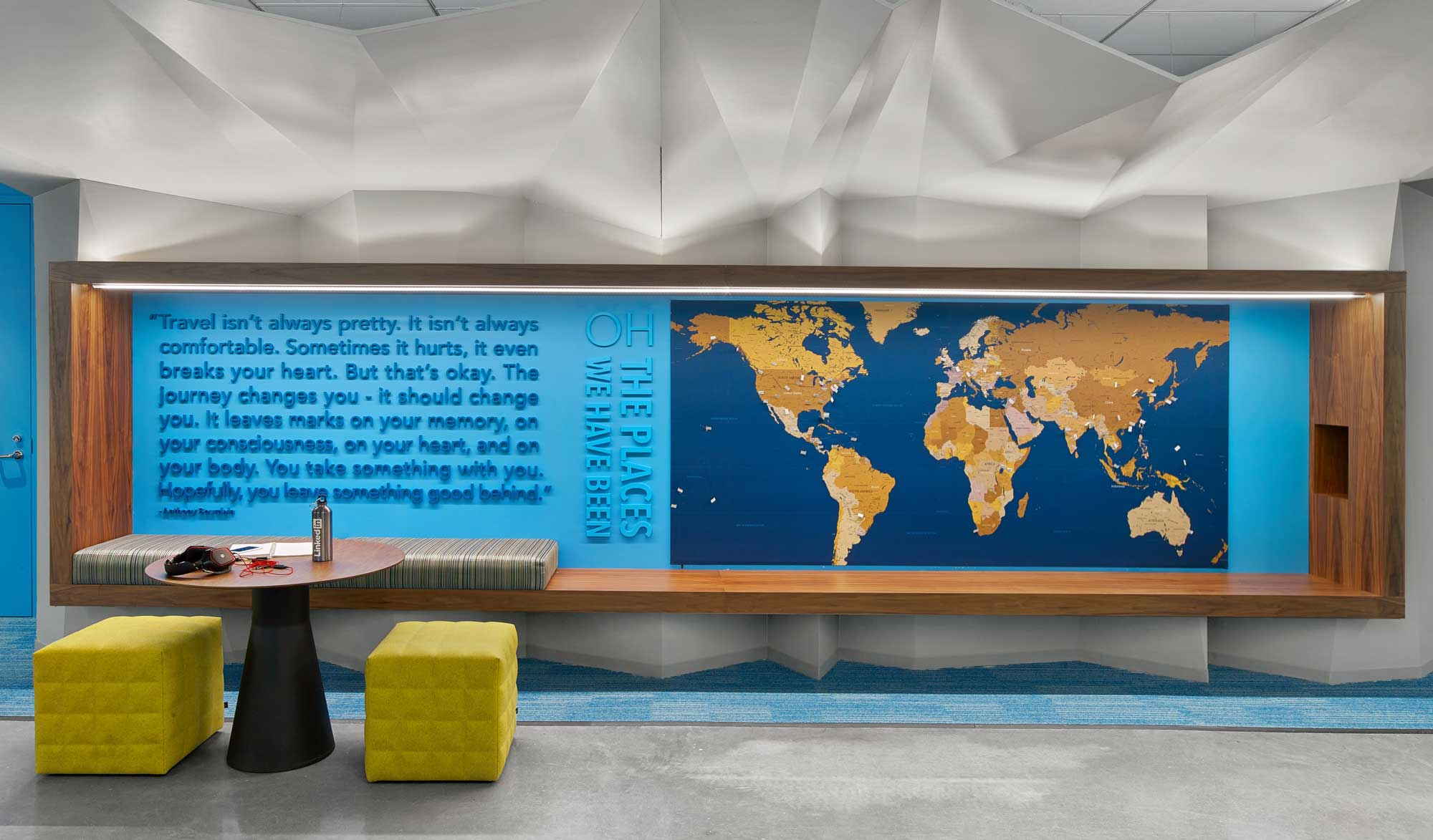 A journey map in LinkedIn's San Francisco office.