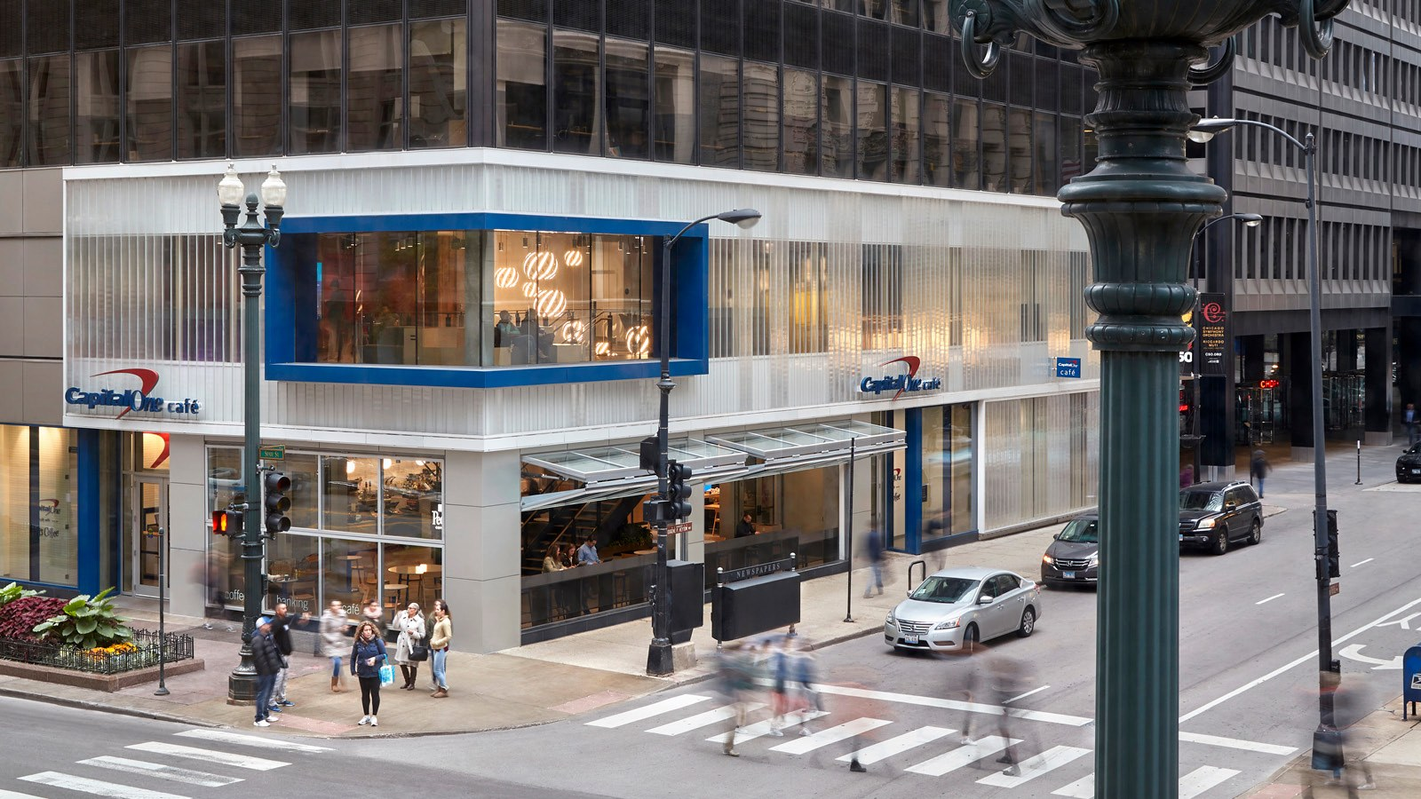 Exterior View of the Chicago Capital One Café at 100 State Street
